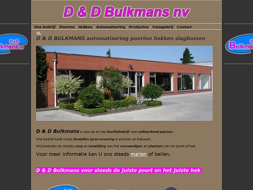D & D BULKMANS NV cover